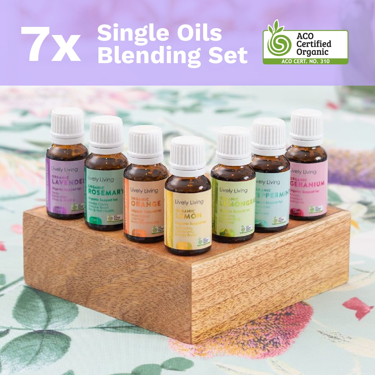7x SINGLE OILS BLENDING SET